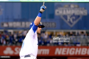 KANSAS CITY, MO - OCTOBER 27: Alex Gordon #4 of the Kansas City Royals rounds the bases after hitting a game tying home run in the bottom of the ninth inning of Game 1 of the 2015 World Series against the New York Mets at Kauffman Stadium on Tuesday, October 27, 2015 in Kansas City, Missouri. (Photo by Ron Vesely/MLB Photos via Getty Images)